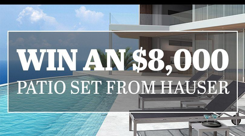 Http://Win An $8,000 Patio Set From Hauser