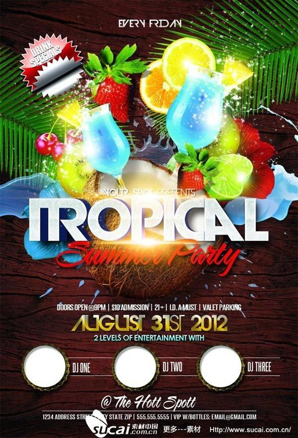 Flyers para fiestas de verano tropical summer 2 proyectos que flyers para fiestas de verano tropical summer 2 fandeluxe Choice Image