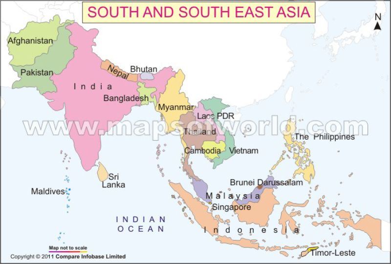 South East Asia Map Projects to Try Pinterest Asia map