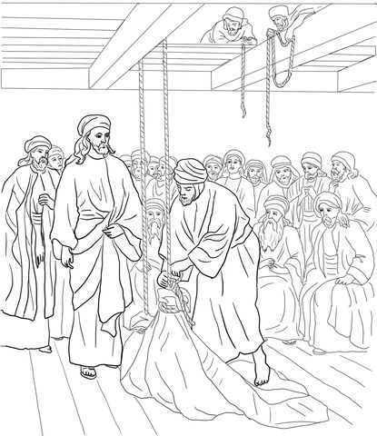 Jesus Heals the Paralyzed Man coloring page from Jesus