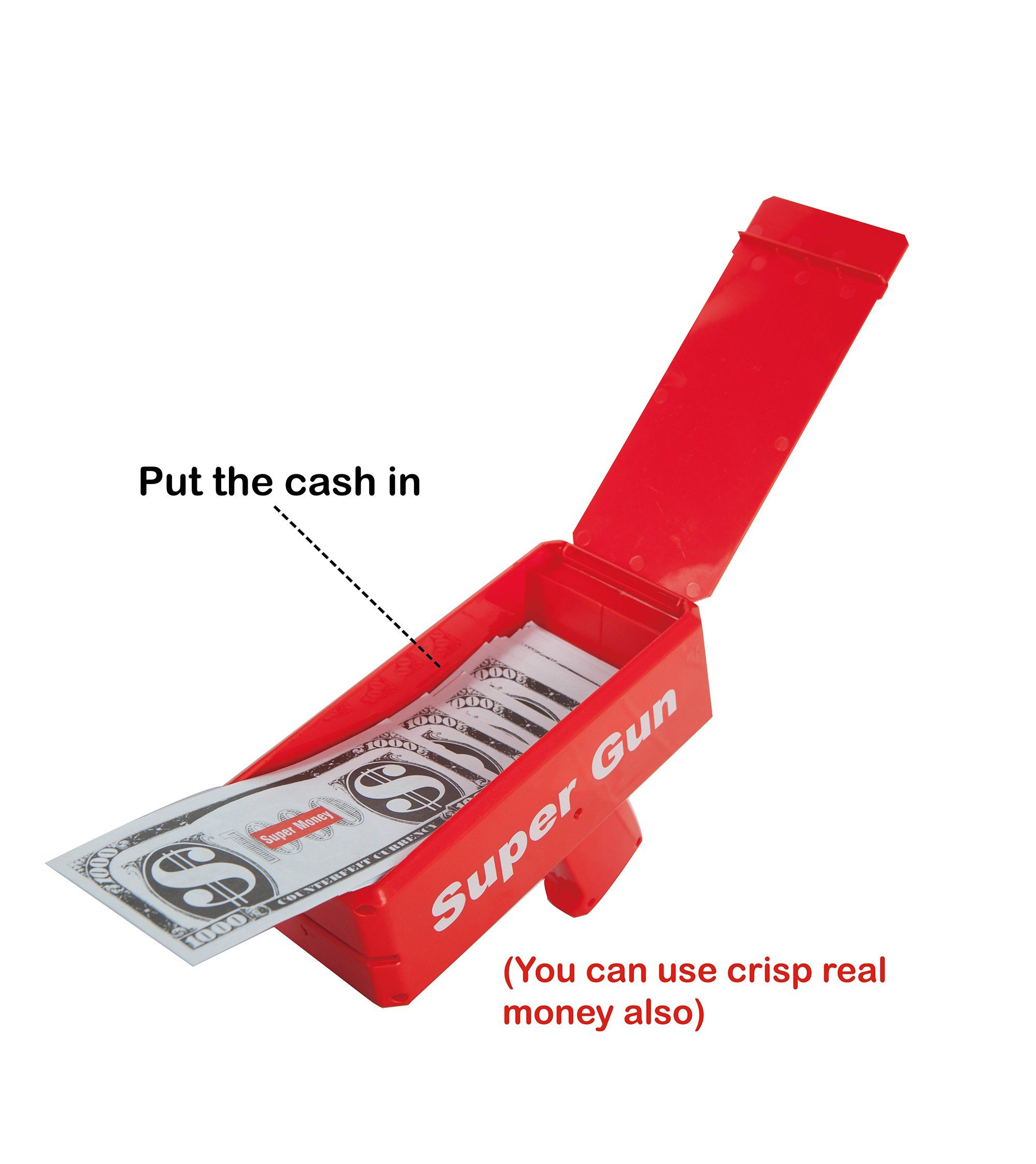 Money Gun Rain Cash Party Make It Fake Machine Launch Toy Gift Game Ca Red