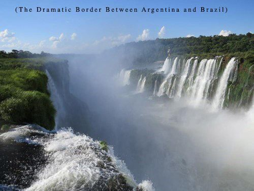 The border between Argentina and Brazil.
