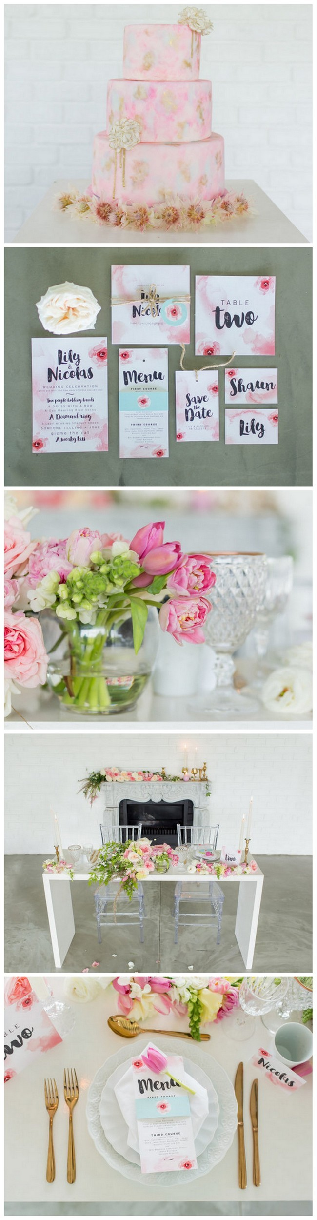 Beautiful Blush Watercolor Wedding Ideas {Adele Kloppers Photography ...