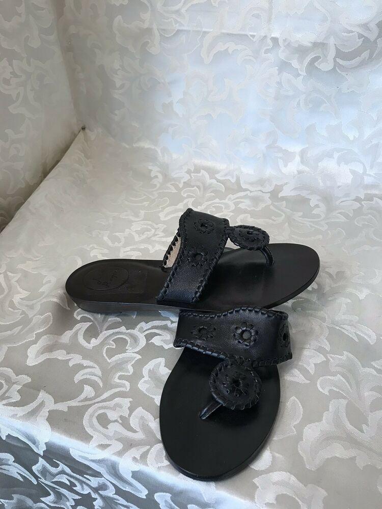 6804de267b08 Jack Rogers Capri Black Leather Sandals Size 7M NICE  fashion  clothing   shoes  accessories  womensshoes  sandals (ebay link)