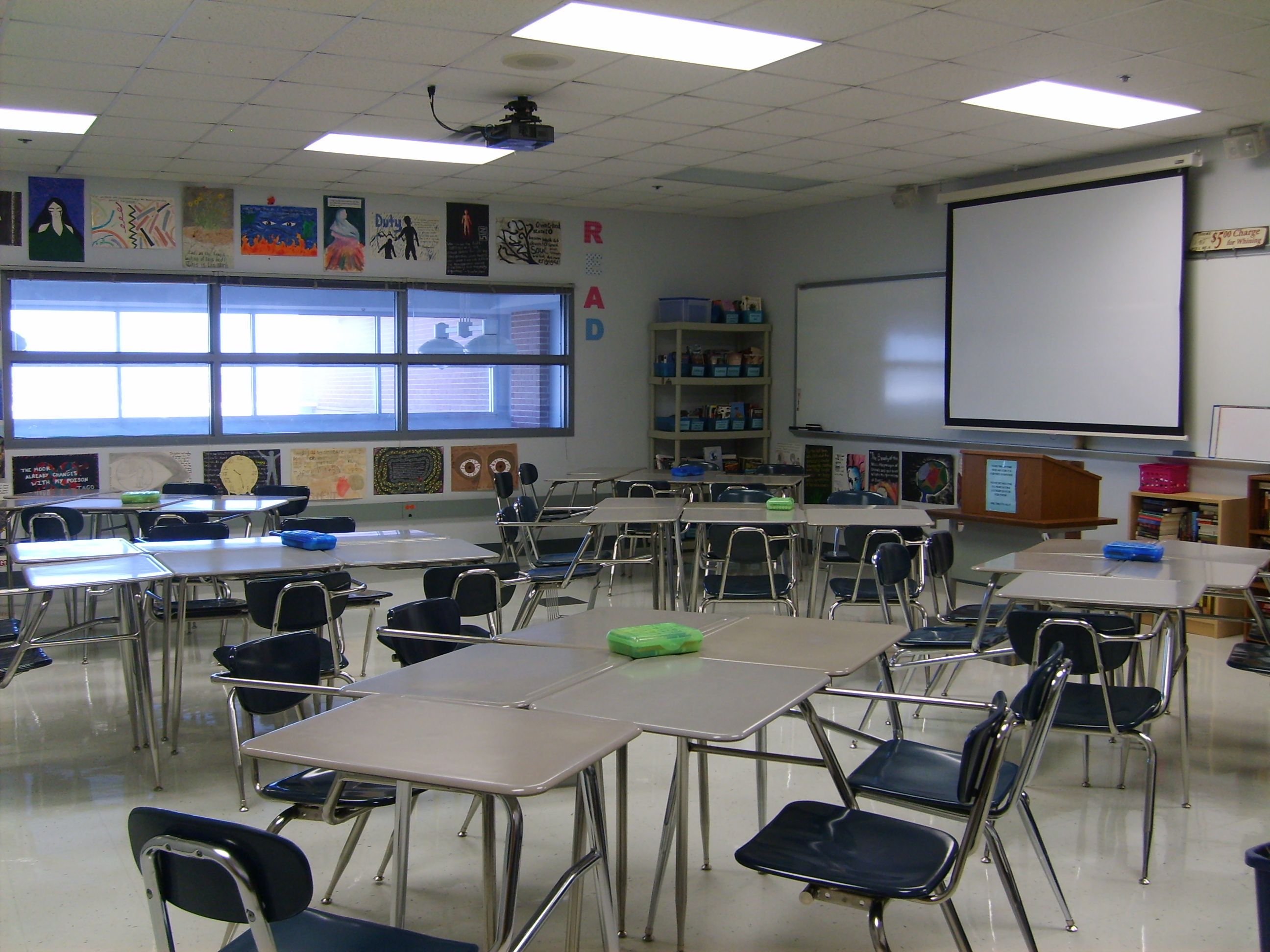 Trying a new seating arrangement I tried kagan quads but a fellow teacher told me she tried groups of three and it really helped to reduce the am…