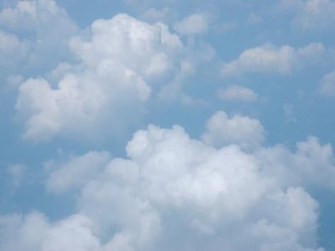 'Puffy Cumulus Clouds in the Sky' Photographic Print - Heather Perry | Art.com