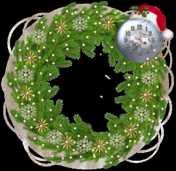 christmas pine photo frame with santa hat