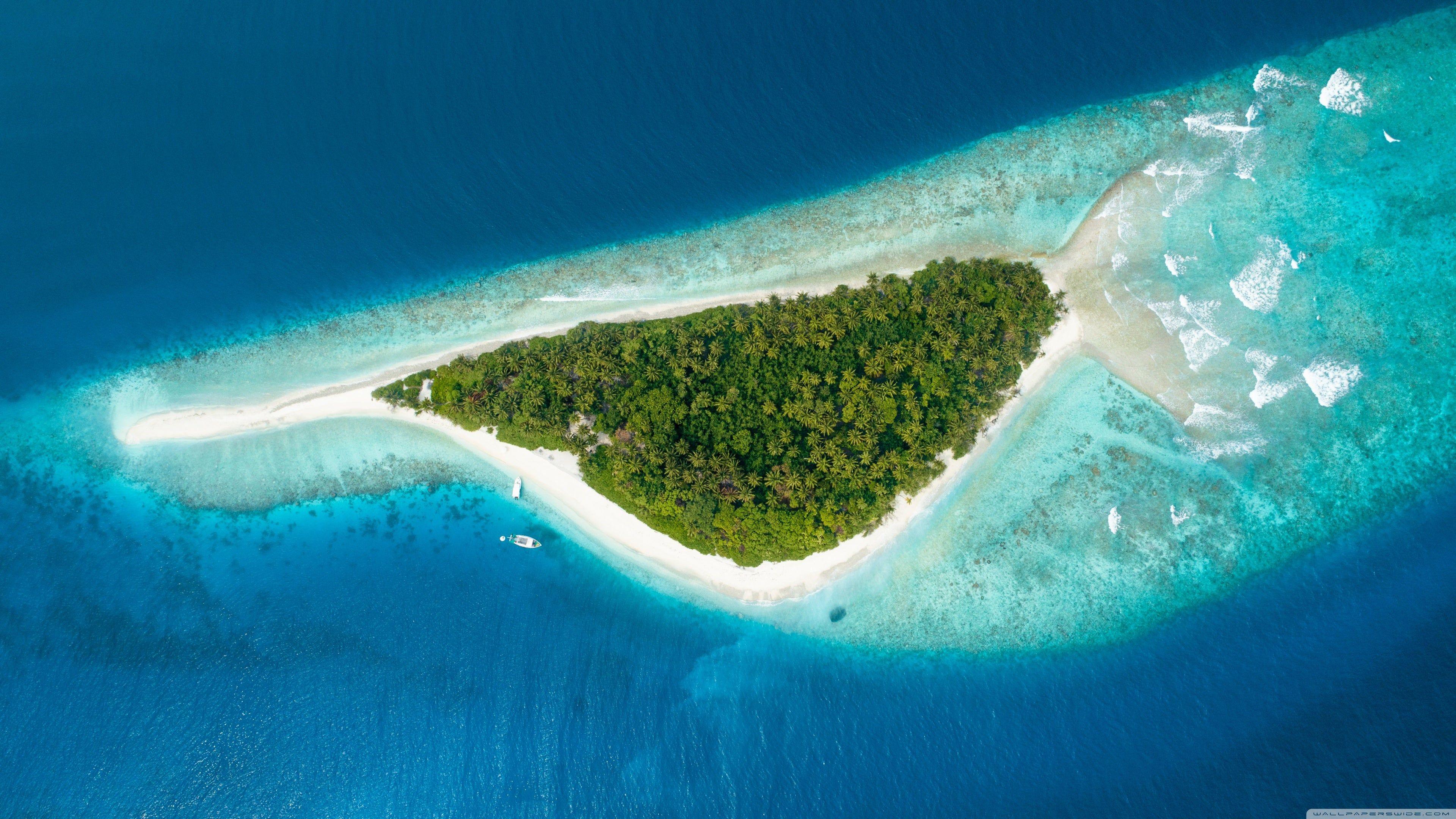 Maldive Fish Island Aerial 4k Wallpaper Beach Pictures Aerial Photography Beaches In The World Island beach sea drone hd image