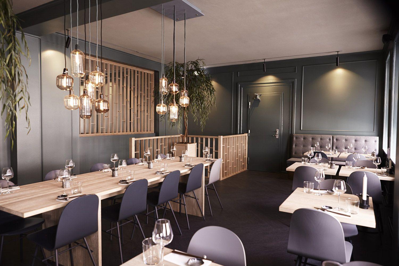 amp lamps in modern japanese restaurant hatoba in. Black Bedroom Furniture Sets. Home Design Ideas