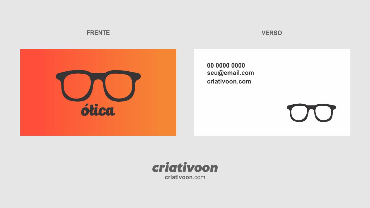 Cartão de visita para ótica   Inspiração cartão de visita ♥♥ em ... ae8bad0cba
