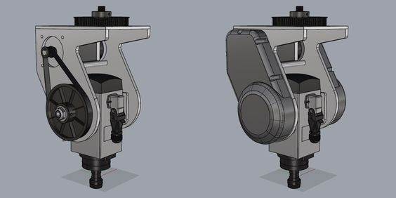 5 Axis Router B/C Head Design