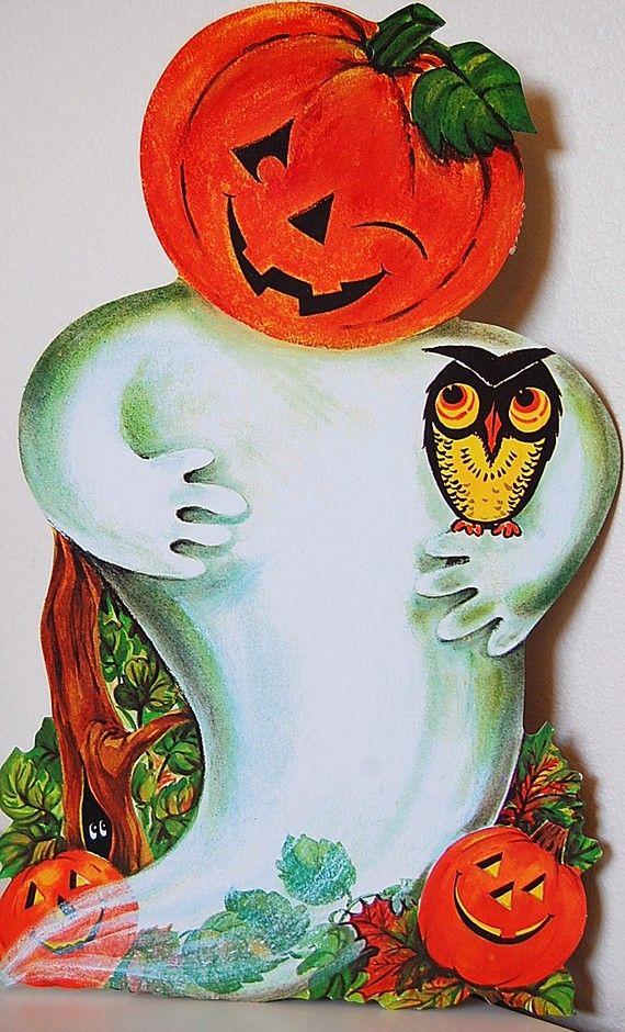 Jack O Lantern Ghost 1500 Paper Dolls The International Doll Society ArtrA Artist Arielle Vintage Halloween