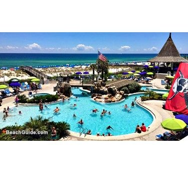 Lazy River Beachfront Pool At Holiday Inn Resort In Pensacola Fl