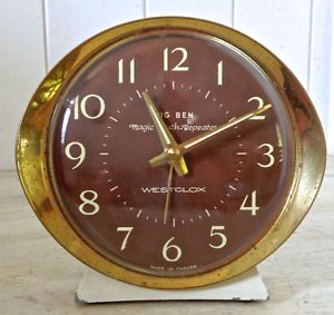 antique 1960 collection r veil matin m canique big ben westclox clocks pinterest big ben. Black Bedroom Furniture Sets. Home Design Ideas