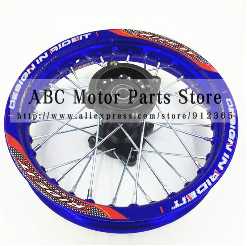 Blue Rims 1 85x12 Inch For Dirt Bike Pit Bike Ktm Crf Kayo Bse Apollo Rear Wheels Spare Parts Pit Bike Motorcycle Wheels Motorcycle Accessories