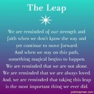 Quotes About Taking A Leap Of Faith Quotesgram By At Quotesgram