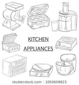 Household appliances for the kitchen, cafe and restaurant