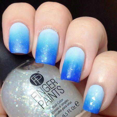ombré gradient blue ombre nails nailart nailblogger