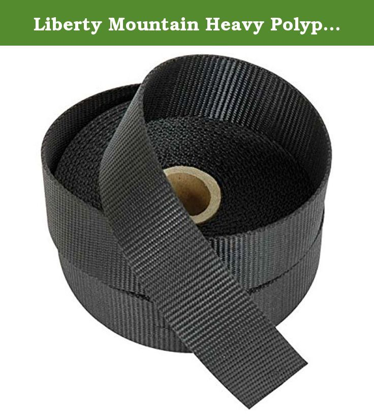 """Liberty Mountain Heavy Polypro Webbing (Black, 3/4-Inch). 447564 Size: 0.75"""" Features: -Heavy weight webbing. -Comfortable to grip. -Less likely to fray apart than lighter weight versions. -Length for all sizes is 100 yards. Generic Dimensions: -0.75"""" dimensions: 0.7"""" H x 10.9"""" W x 10.7"""" D. -1"""" dimensions: 11.3"""" H x 18.1"""" W x 19.4"""" D. -1.5"""" dimensions: 1.4"""" H x 14.5"""" W x 14.9"""" D. -2"""" dimensions: 1.7"""" H x 14.6"""" W x 13.3"""" D."""