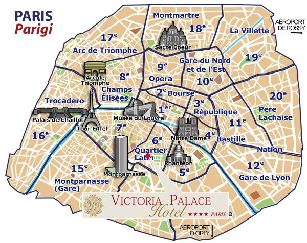 Districts & Sites Map of Paris | Favorite Places & Spaces | Paris ...