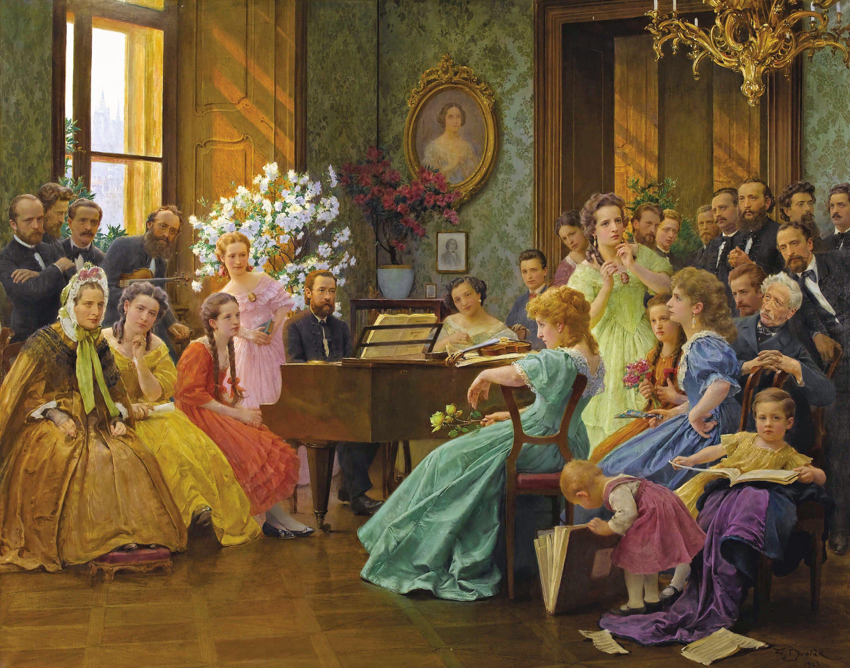 Franz Dvorak Austrian 1862 1927 Bedrich Smetana And His Friends