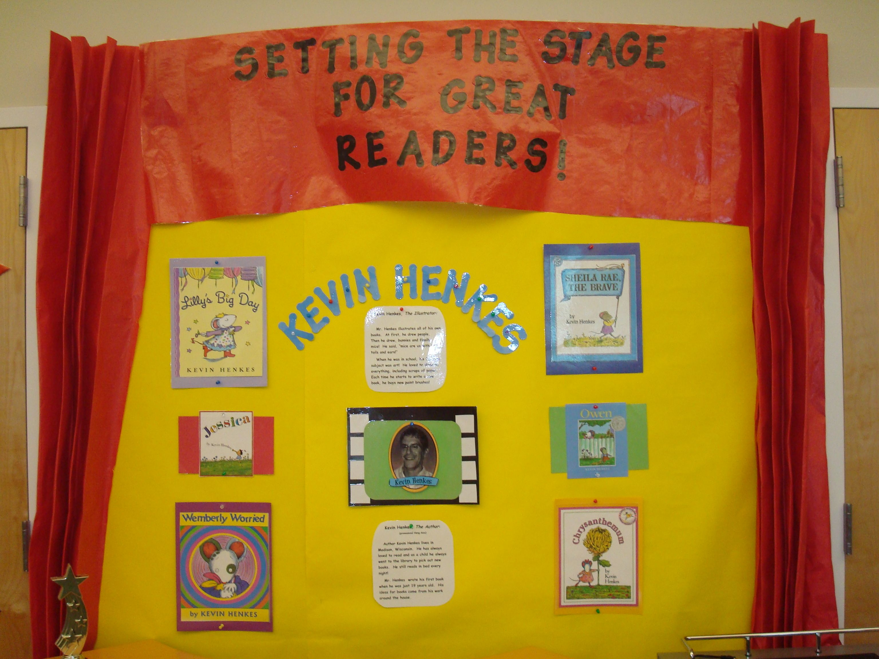 Community Bulletin Board For A First Grade Author Study Of