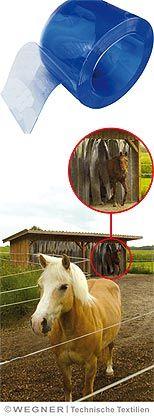PVC-Lamellen meterware - auch als windschutz für den weideunterstand zu verwenden - WEGNER24