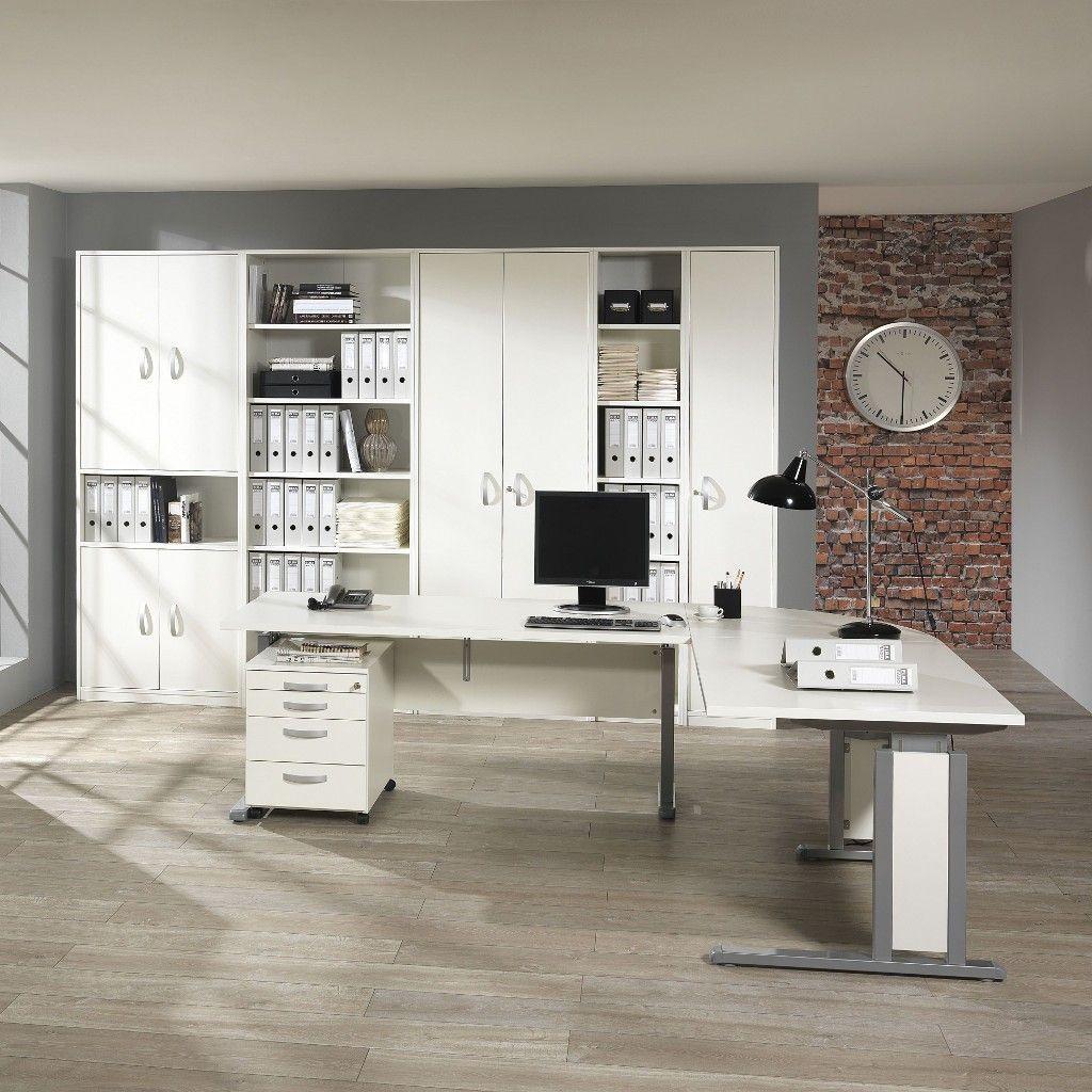 Weißer Schreibtisch Job Express aus dem Sortiment von Büromöbel ...