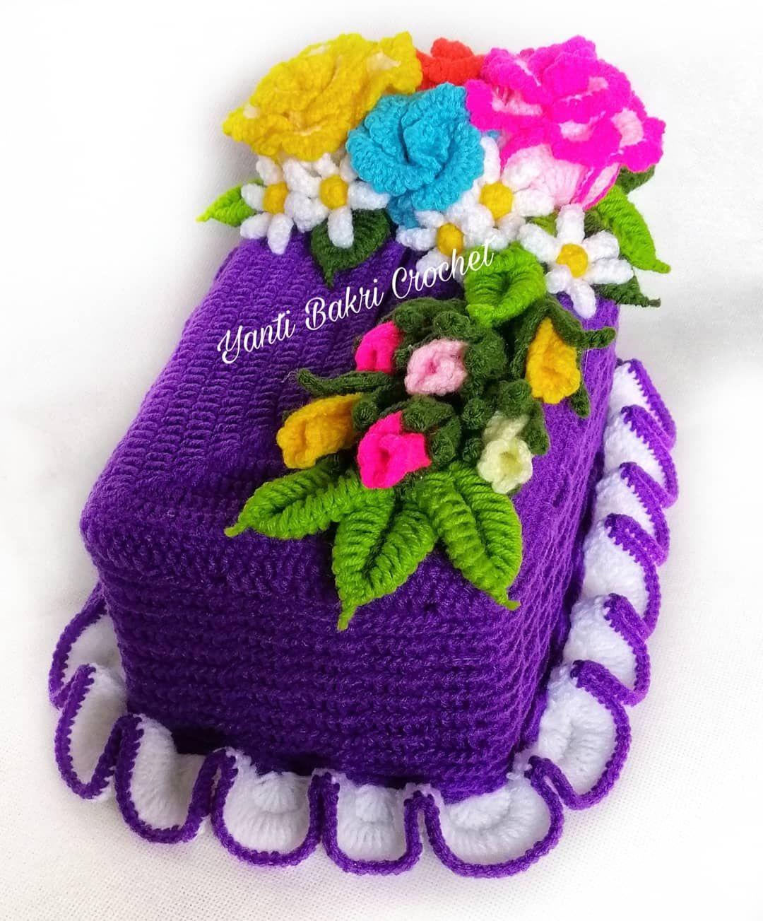 Kotak Tissu : kotak, tissu, KRISTEN, MORGAN, Individuales, Crochet, Handmade, Crochet,, Acrylic, Yarn,