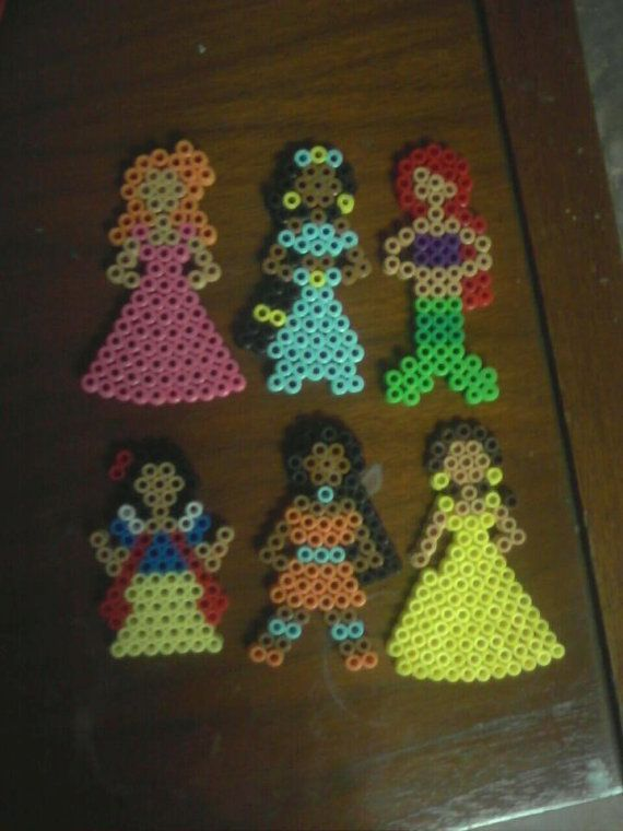 Disney Princess Magnets or ornaments | Diys | Perler beads