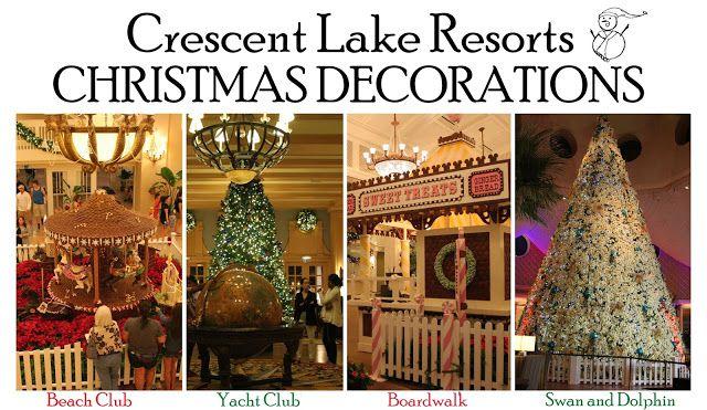 Boardwalk Epcot Area Resorts Christmas Decorations Disneyworld