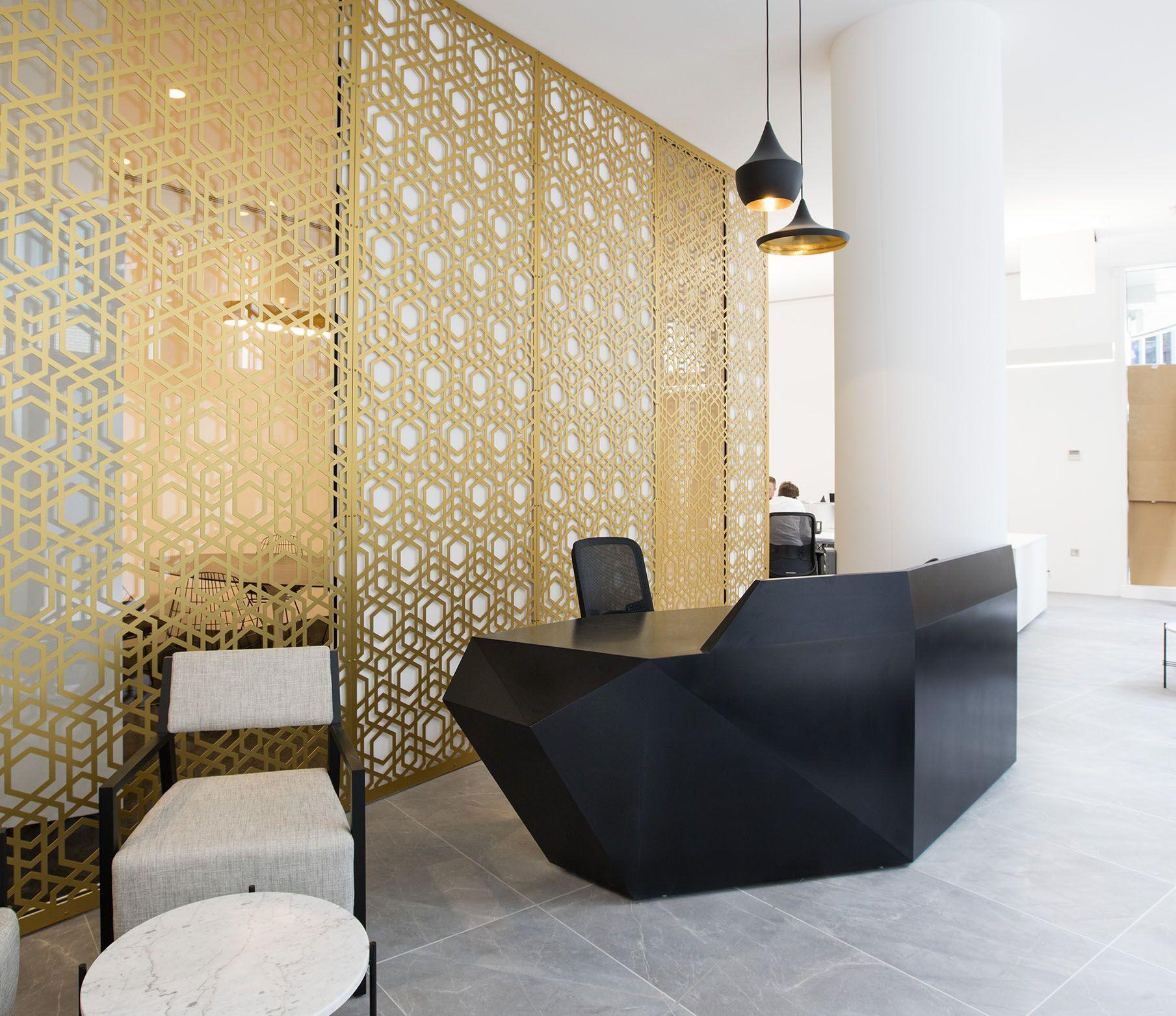 Reception Desk on Behance angular geometric cubism shapes origami faceted Pinterest