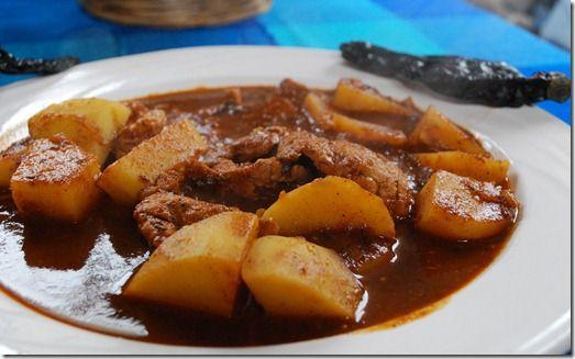 Recetas Comidas Con Bistec De Puerco Bisteces En Salsa De Chile Pasilla Receta Receta Recetas