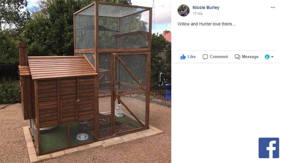 customer photo of meow manor outdoor cat enclosure