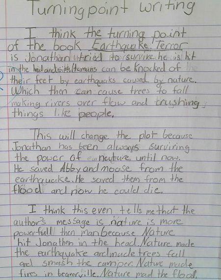 BLOG: EARTHQUAKE TERROR- TURNING POINT 5th Grade teacher