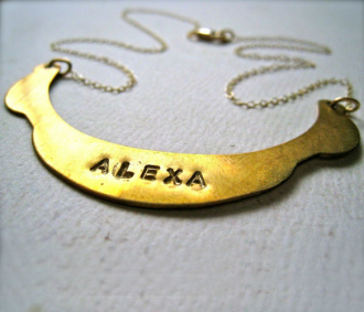 Custom U Plate Necklace