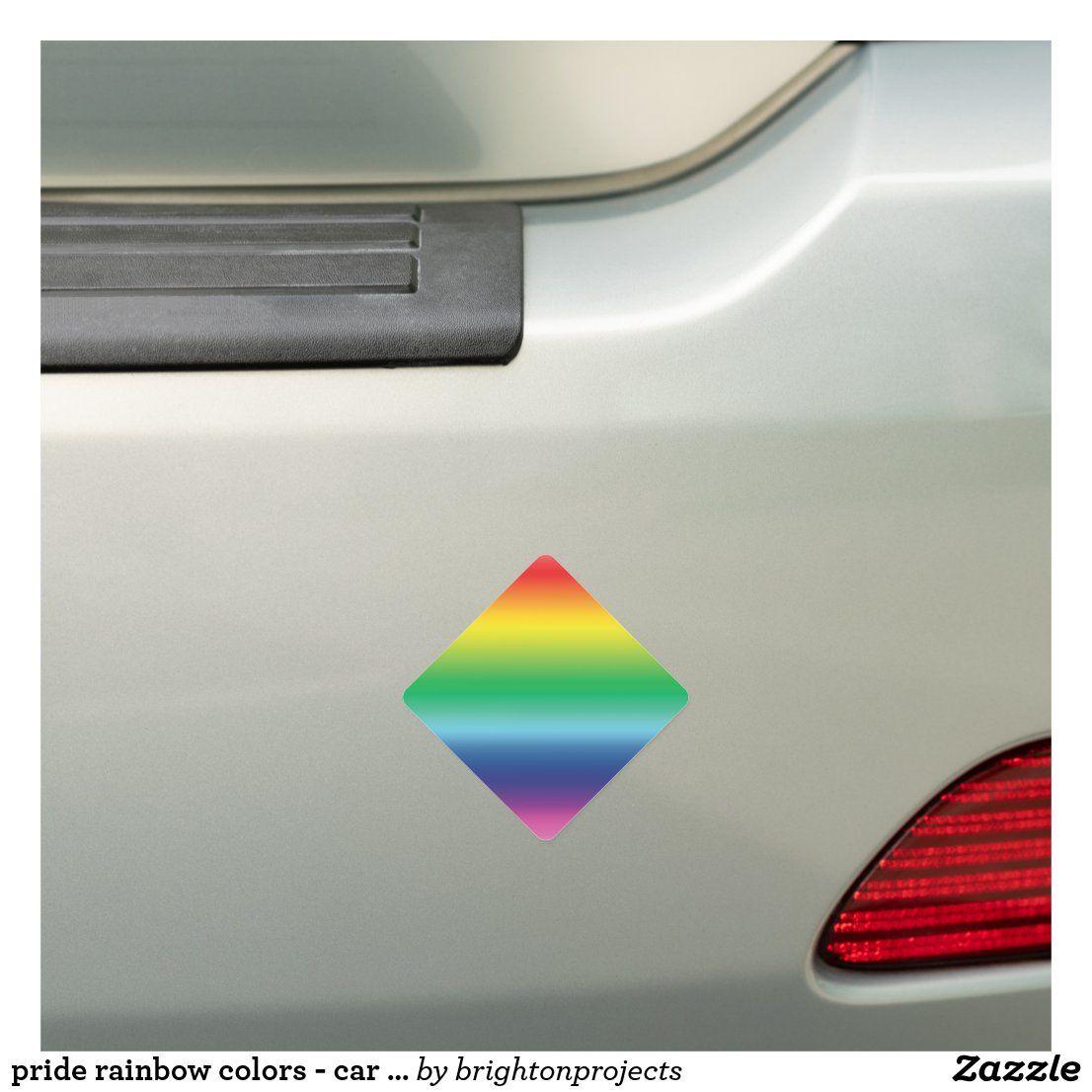 Pride Rainbow Colors Car Bumper Sticker Magnet Zazzle Com Magnetic Bumper Stickers Car Bumper Stickers Car Bumper [ 1106 x 1106 Pixel ]