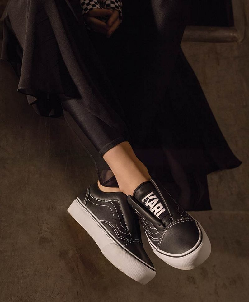 32bb89e617df Cinderella Would Like To Slip Into These Karl Lagerfeld-Vans Sneakers  Instead Of Glass Heels