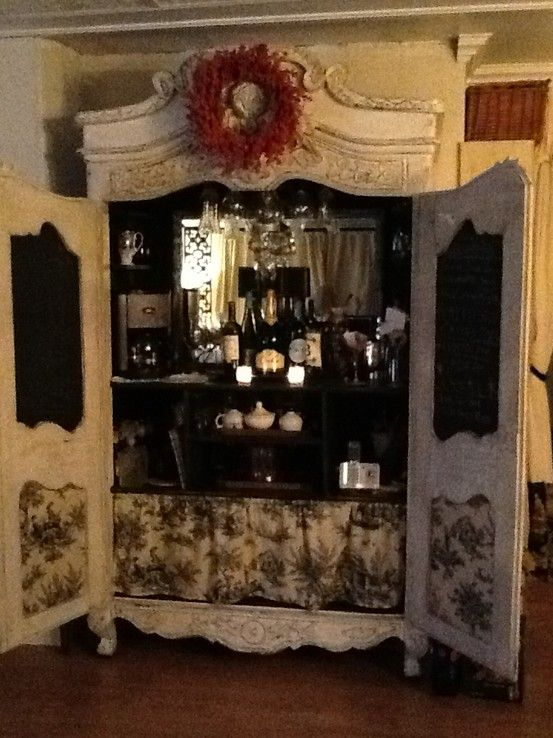 Armoire Turned Into A Bar.