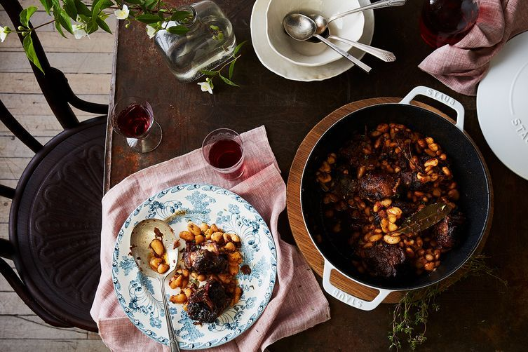 braised oxtail with butter beans recipe braised oxtail butter beans and beans