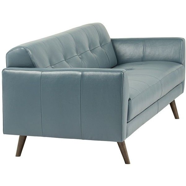 "Model Of Digio Adda 80"" Wide Blue Leather Sofa $1 300 ❤ liked on Polyvore featuring Unique - Inspirational Turquoise Leather sofa For Your Plan"