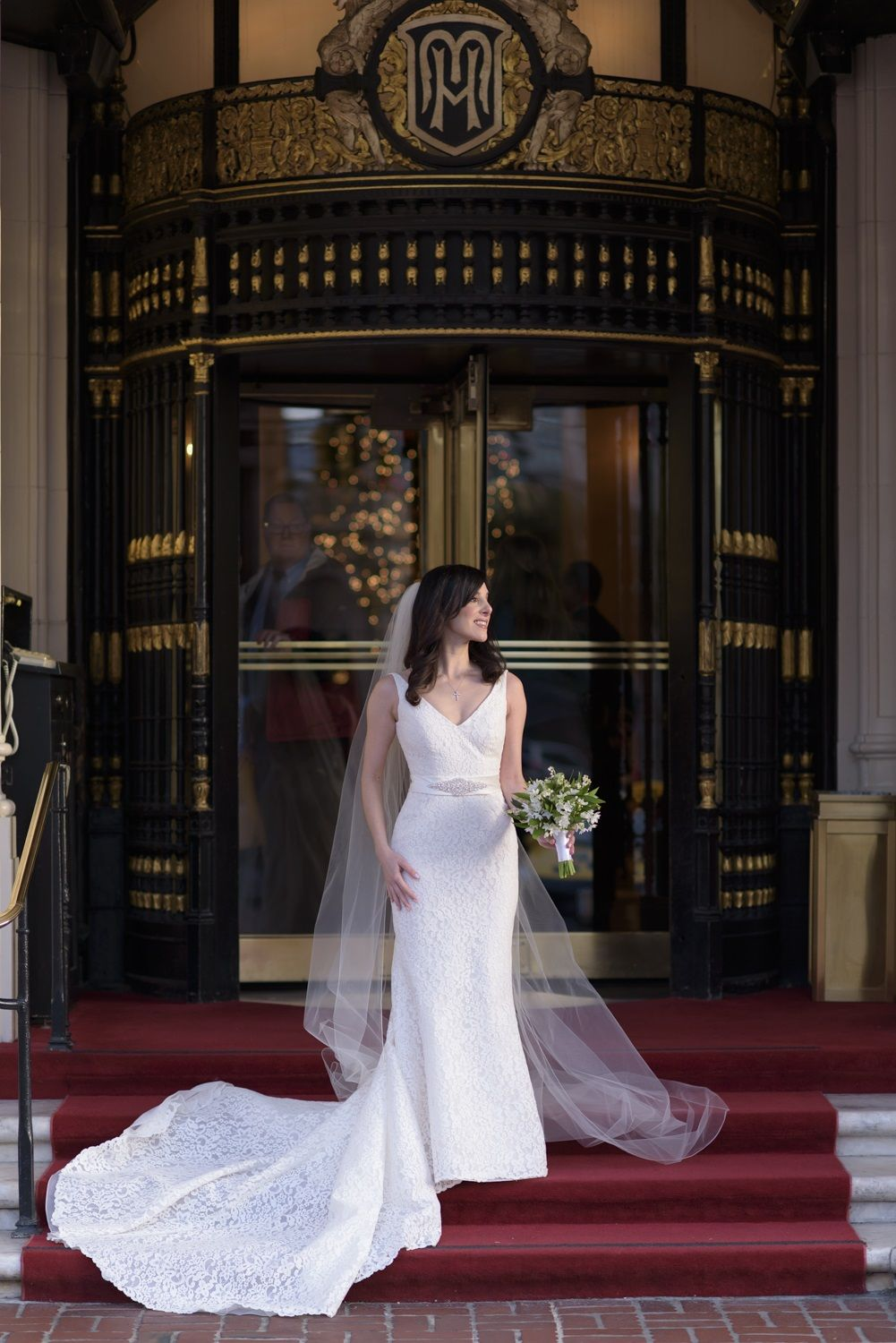 Tina Odisho-Greenwood wearing the fabulous Pronovias Maricel | Real ...