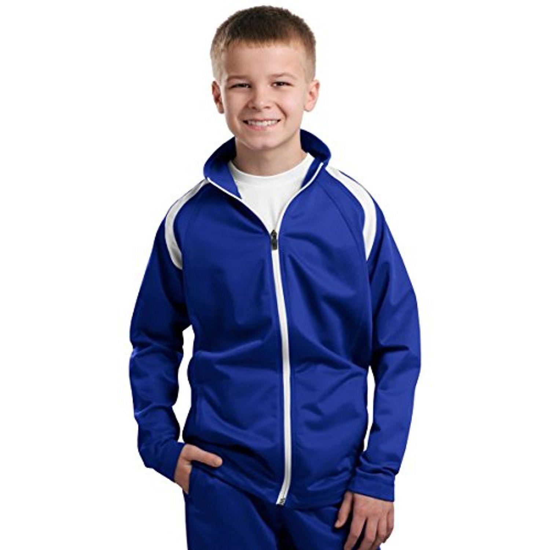 SportTek SportTek, Youth Tricot Track Jacket, True Royal