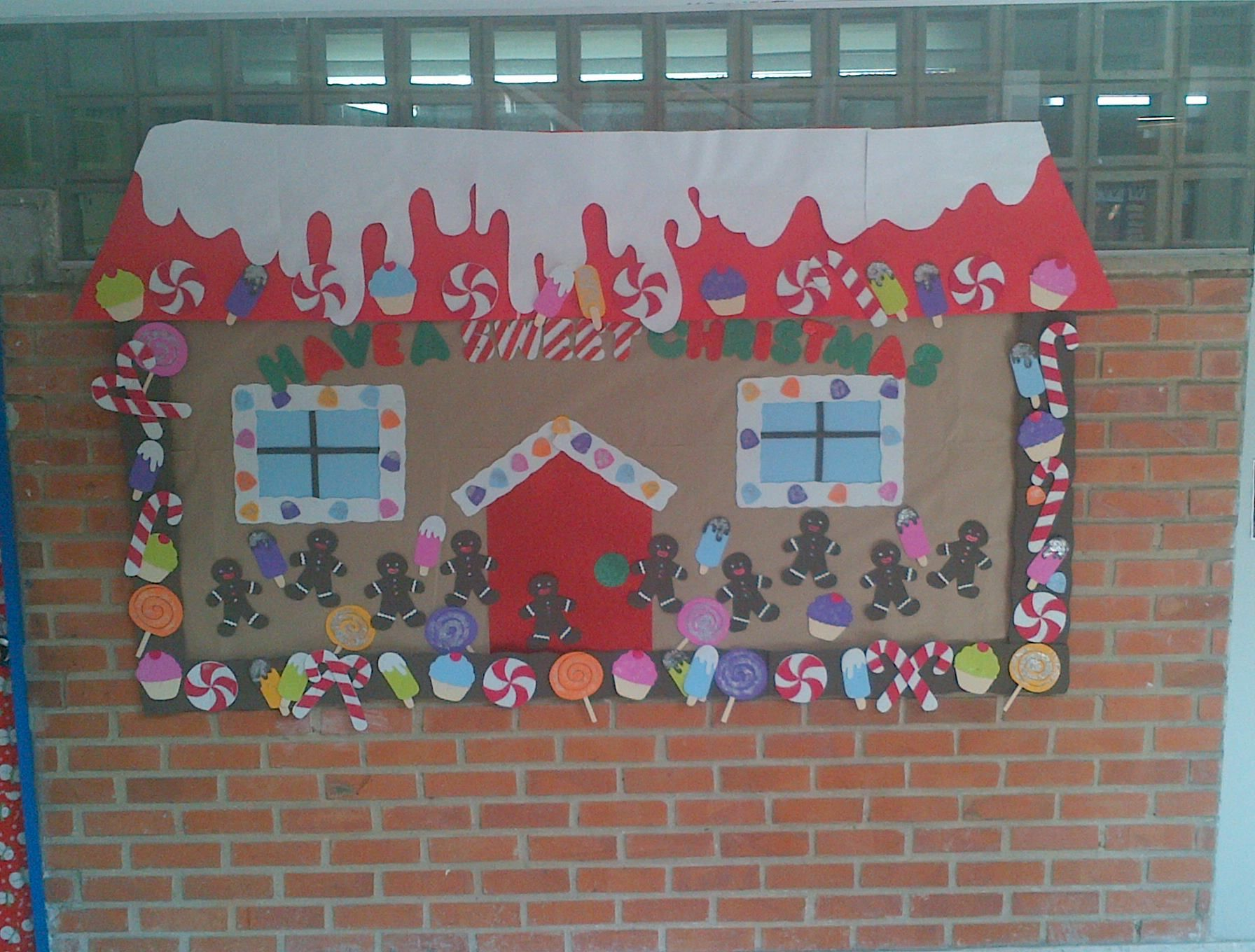 Christmas bulletin board just make the bard into the house