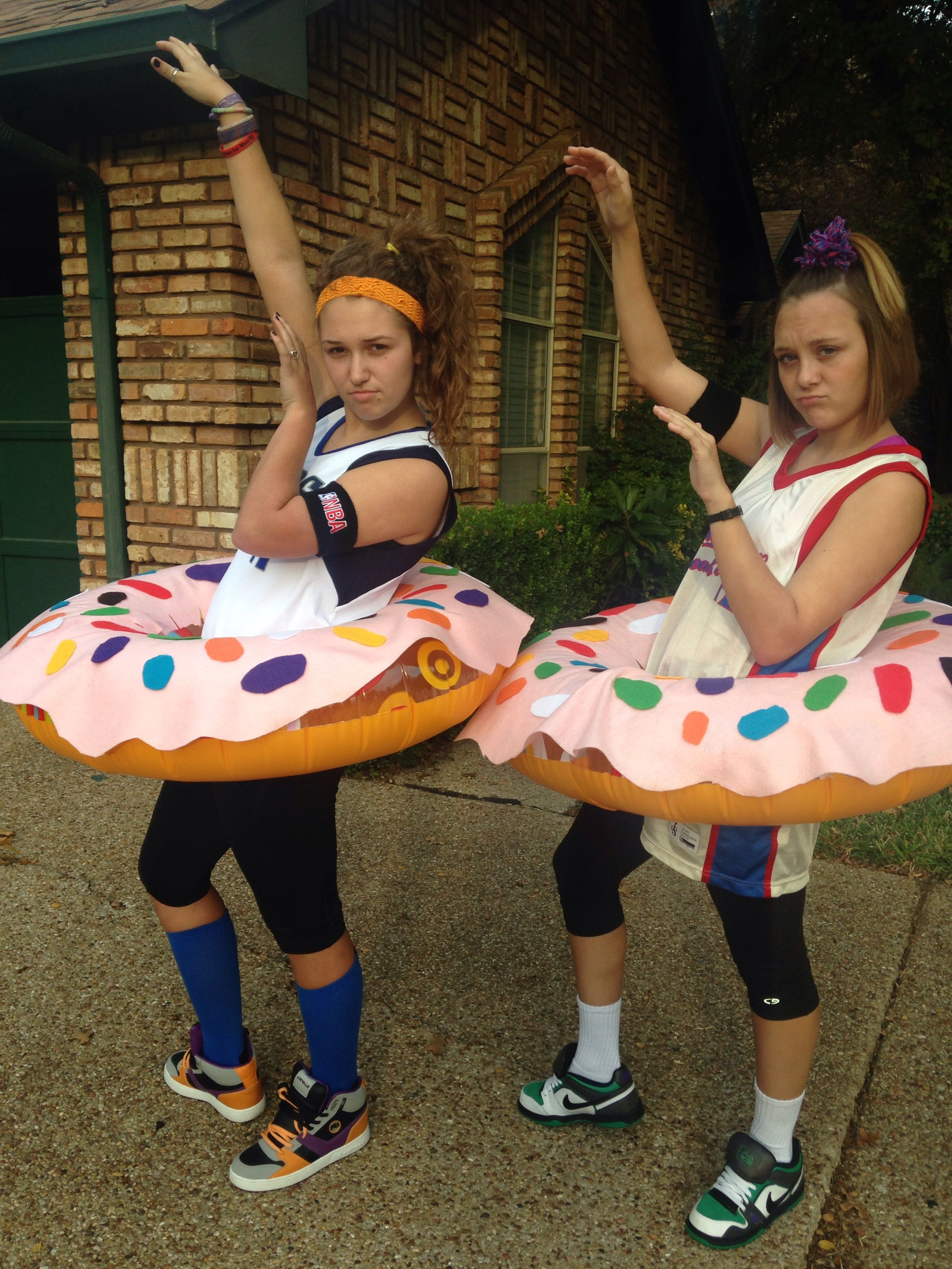 Dunkin Donuts Halloween Costume! Erin and Syd are 2 of my