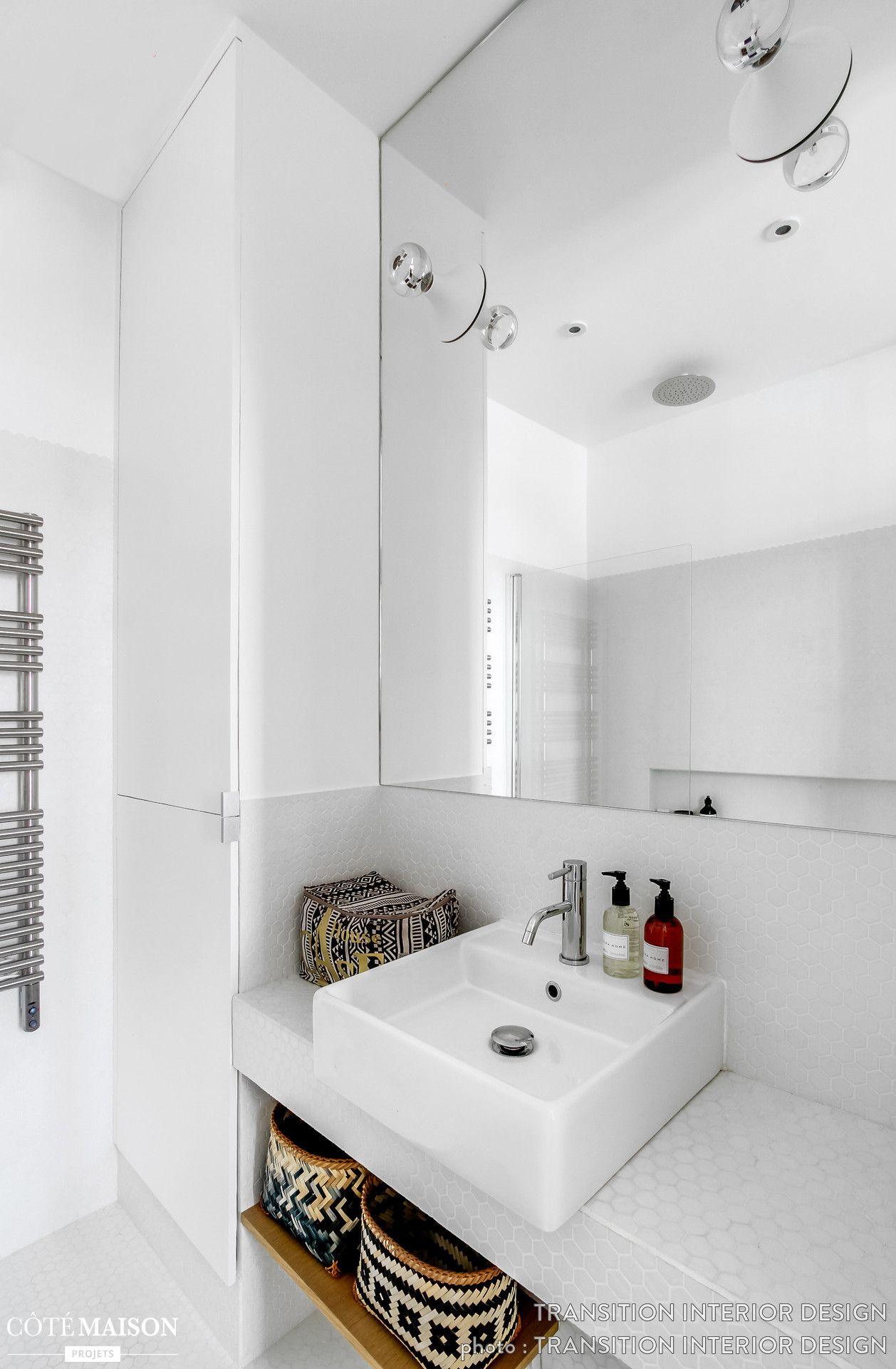 Une salle de bains contemporaine toute blanche | Ideas | Pinterest ...