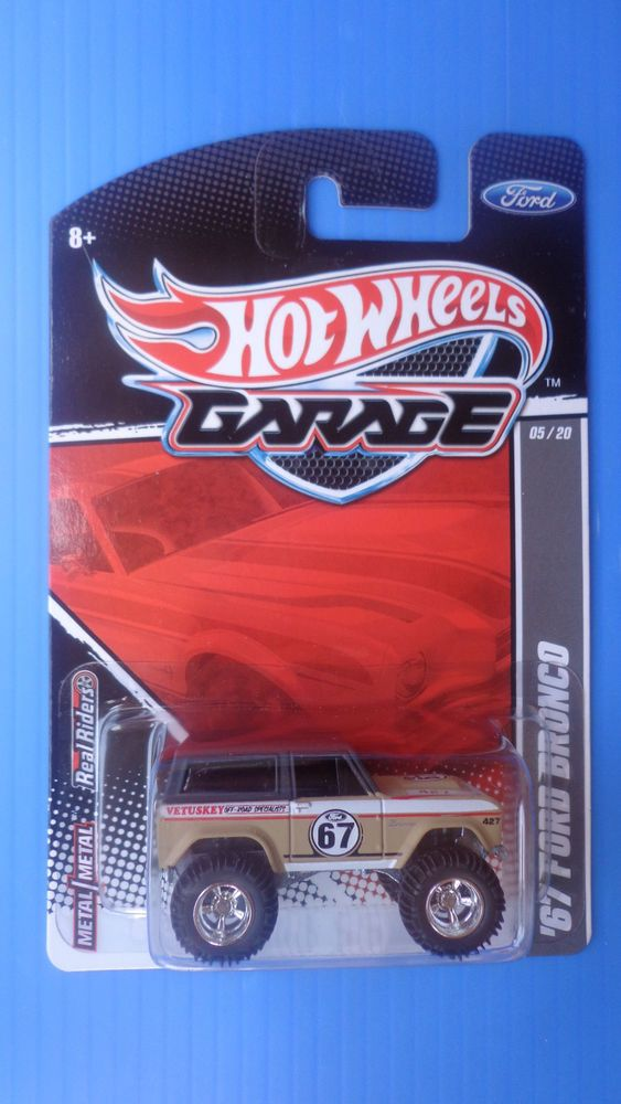 Hot Wheels 67 Ford Bronco 2011 Garage Real Riders Rare J Case