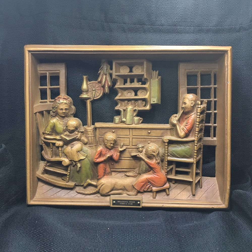 Burwood Products Reading Time circa 1749 Wall Plaque vintage  | eBay