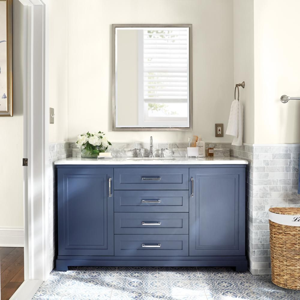 Martha Stewart Living Lynn 60 In W X 22 In D Vanity In Midnight