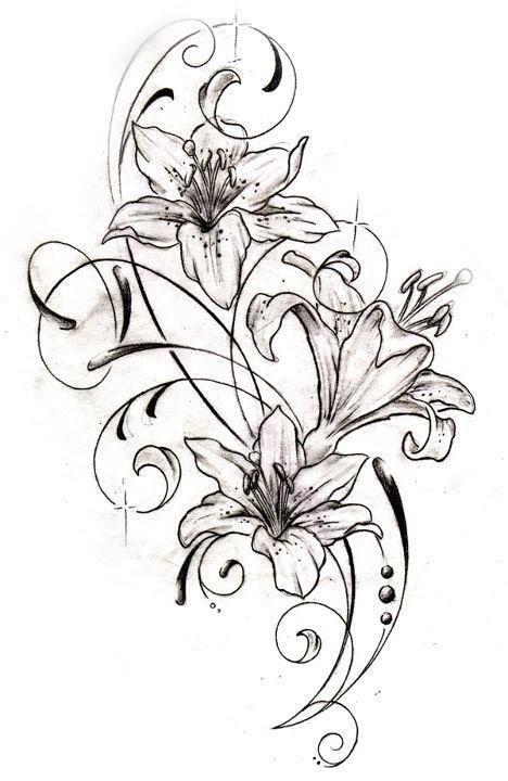 Beach Tattoos For Women Tattoovorlagen Lilie